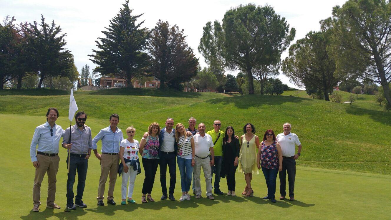 Visita al camp de golf