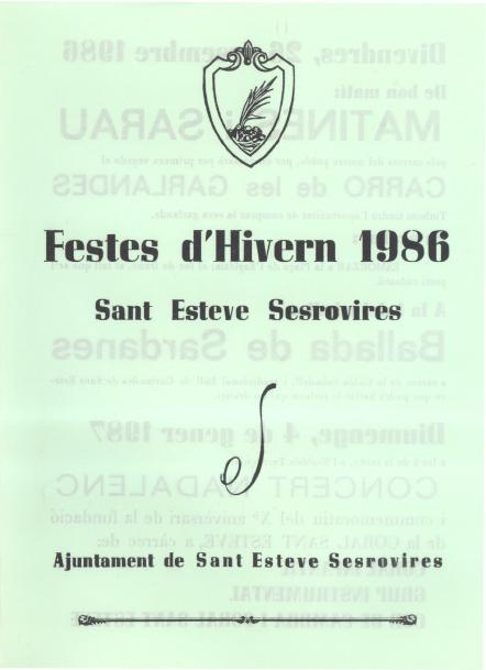 Festes d'Hivern 1986