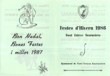 Programa de Festes d'Hivern 1986